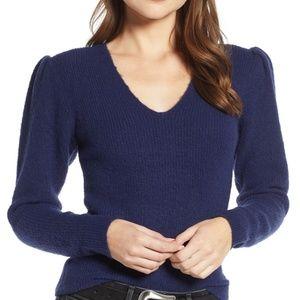 Something Navy Puff sleeve sweater